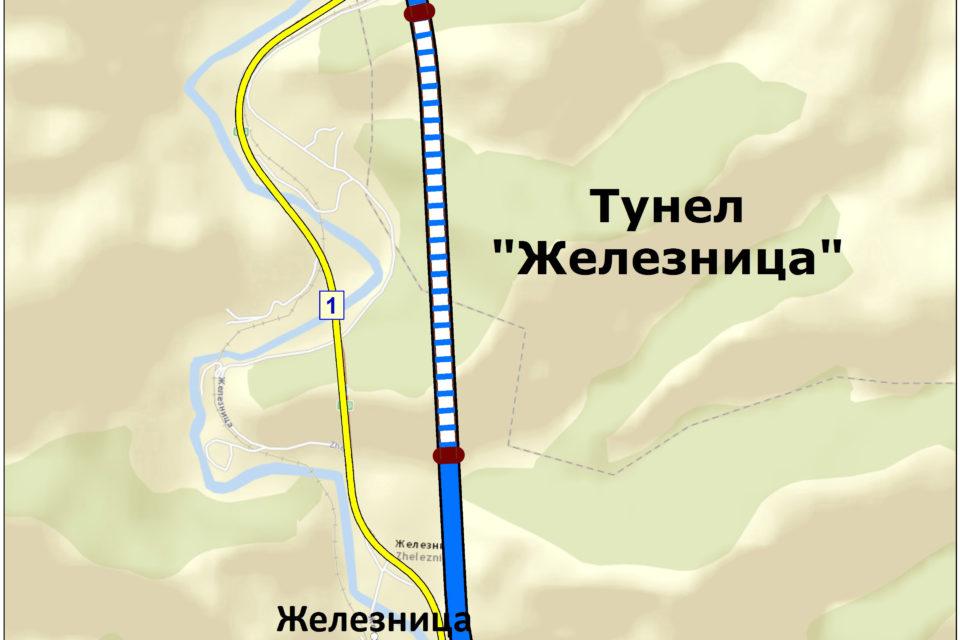 """Подписан е договорът за проектиране и строителство на 1,4 км от трасето след тунел """"Железница"""" на АМ """"Струма"""""""