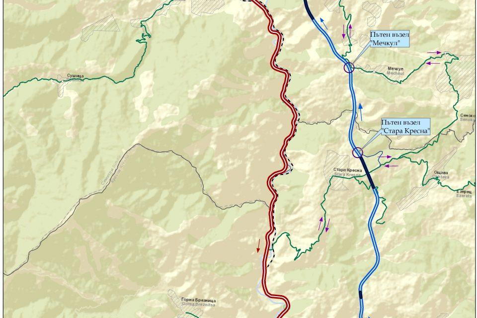 """България оттегля апликационната форма за АМ """"Струма"""" през Кресненското дефиле, но не се отказва от проекта"""