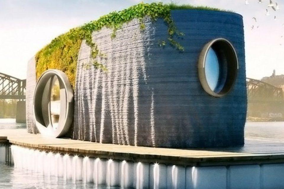 Построиха плаваща 3D къща за два дни