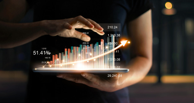businessman-holding-tablet-showing-growing-virtual-hologram-statistics-graph-chart-with-arrow-up_34200-307